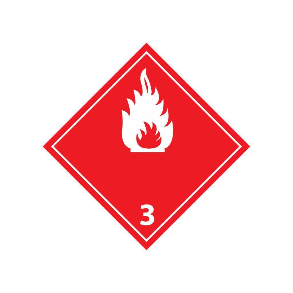 Flammable liquids 3 Sticker