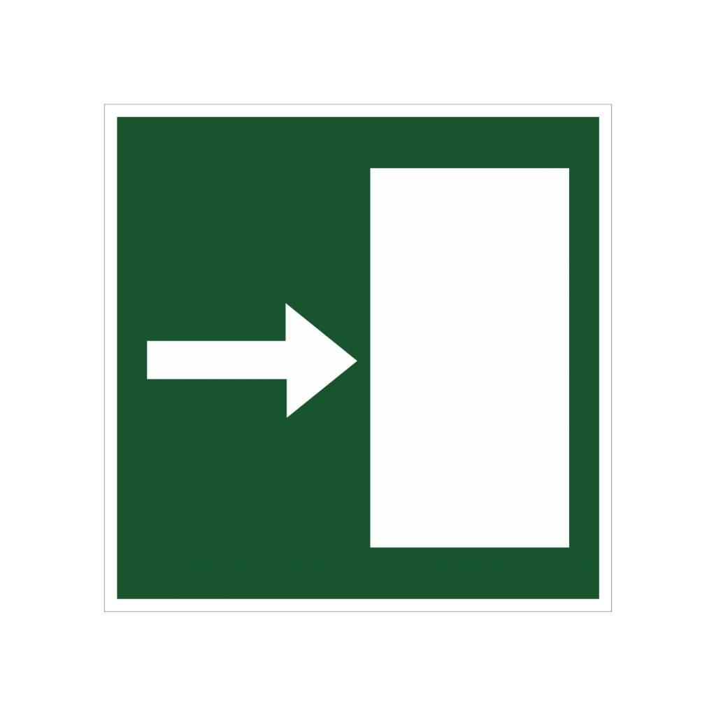 Escape route right sticker