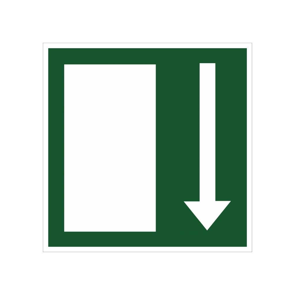 Emergency Exit 6 sticker