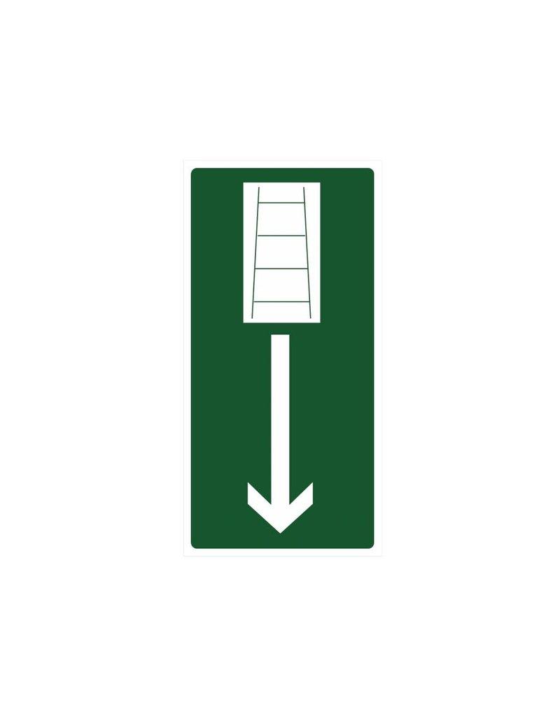 emergency stairs sticker