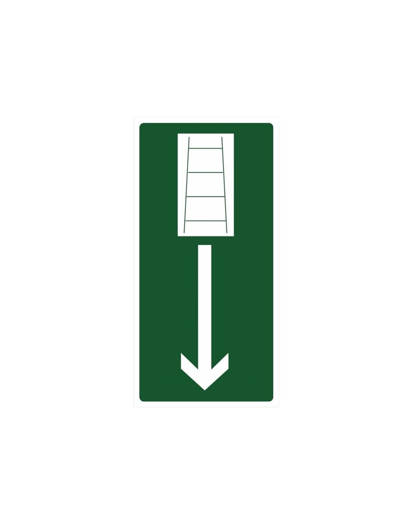 Pegatina escalera de emergencia