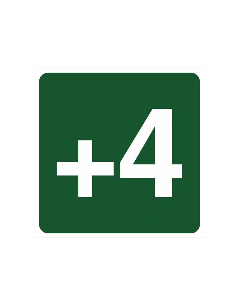 Étage +4 autocollant