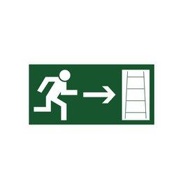 Vluchtweg via Noodladder rechts sticker