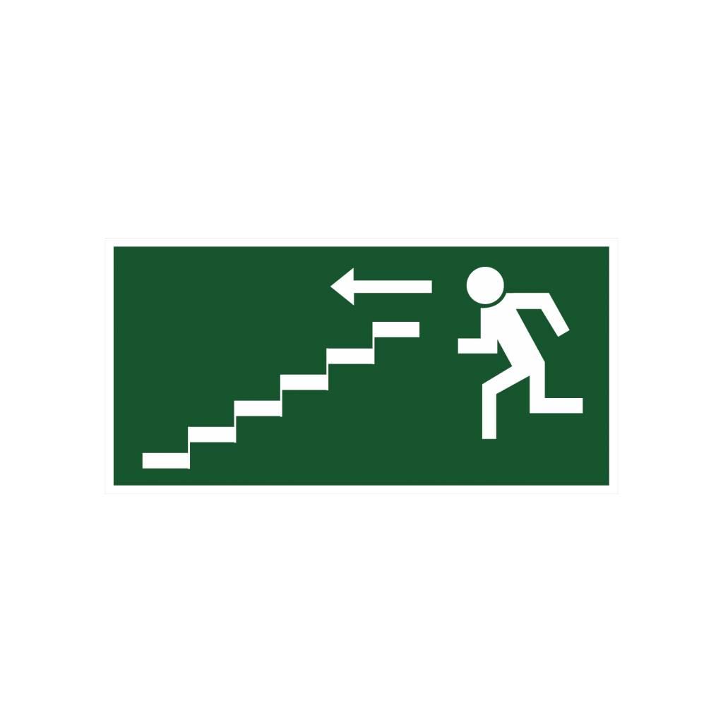 Sortie de secours avec escaliers autocollant 2