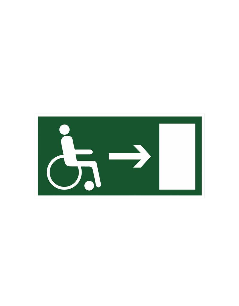 Escape route for disabled right sticker