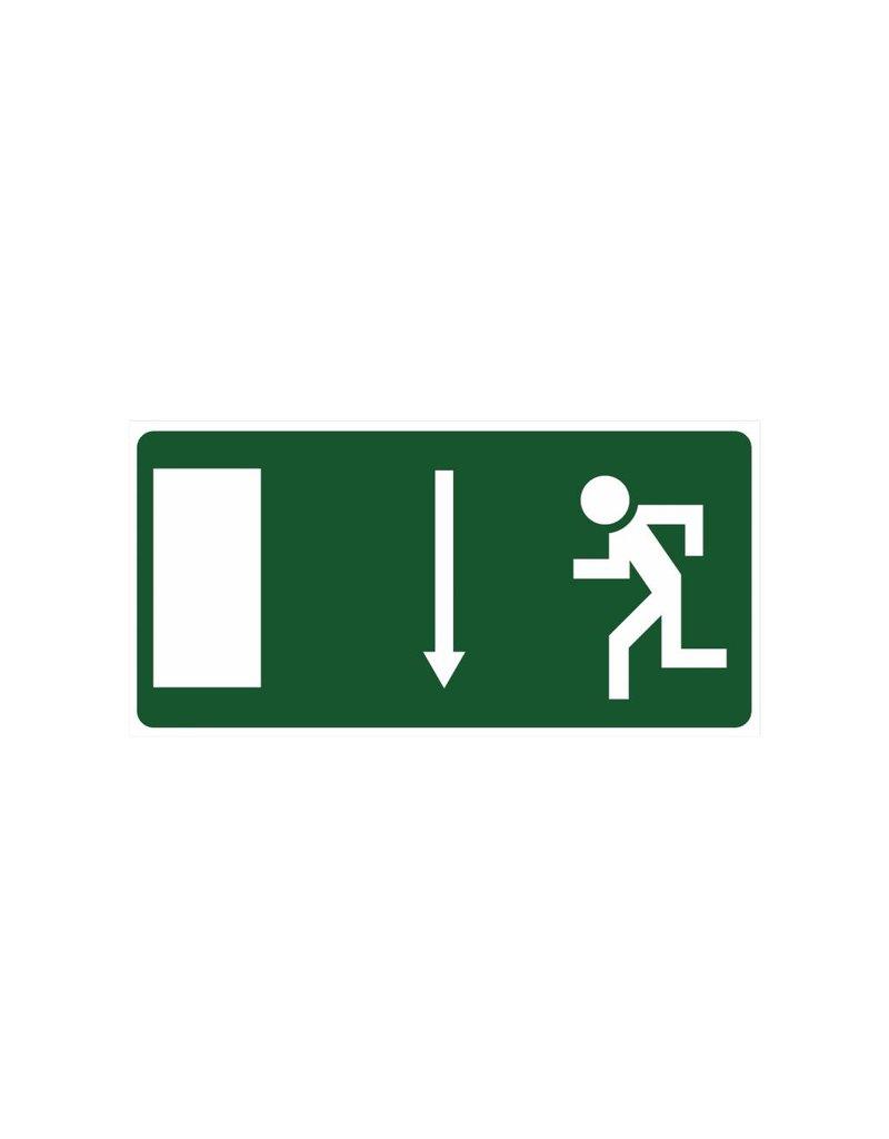Emergency Exit 3 sticker