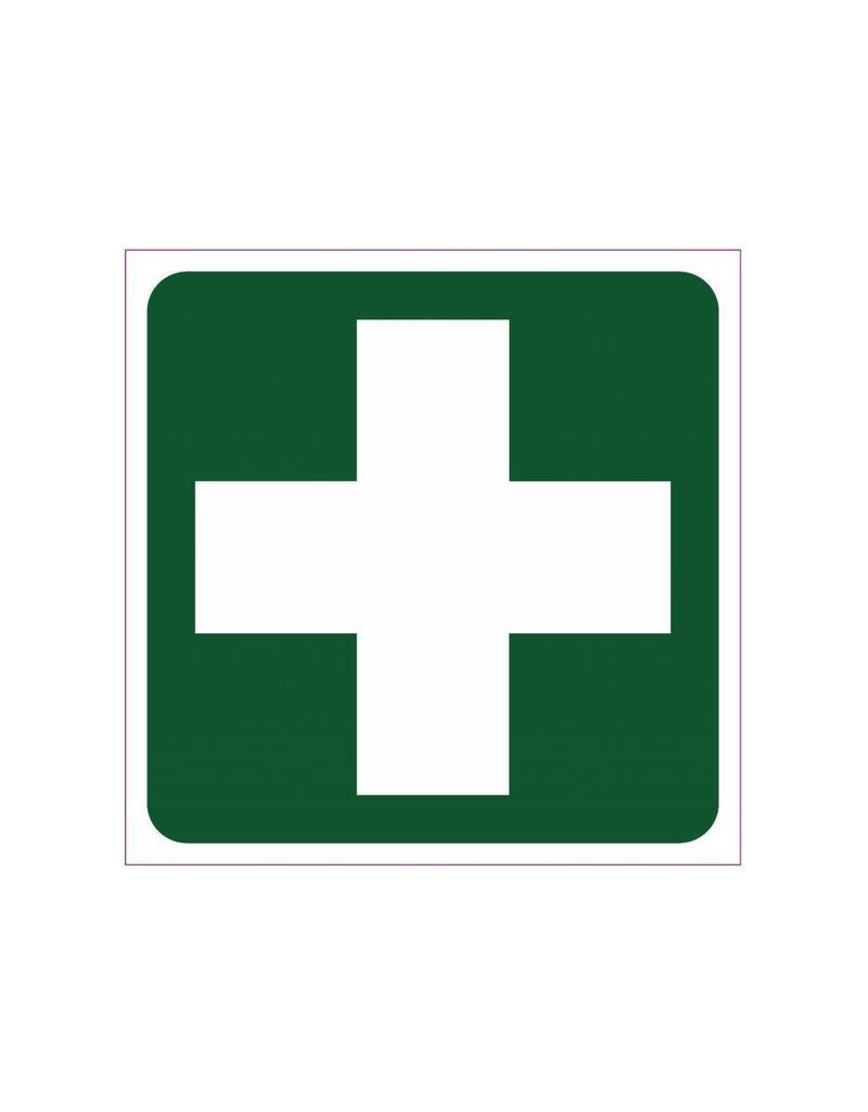 EHBO cross sticker