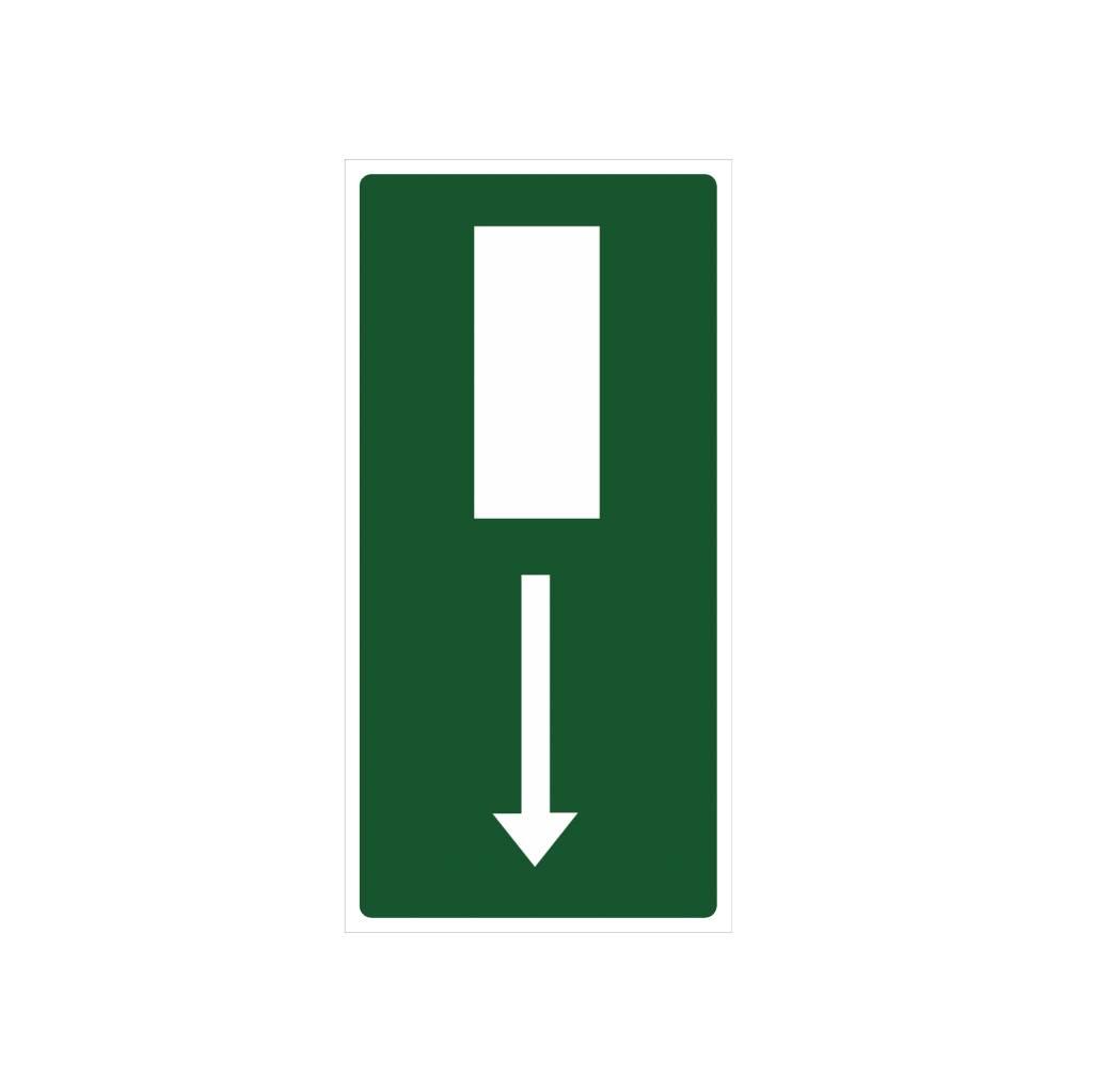 Nooduitgang sticker
