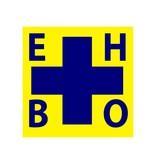 Autocollant EHBO Croix bleu/jaune