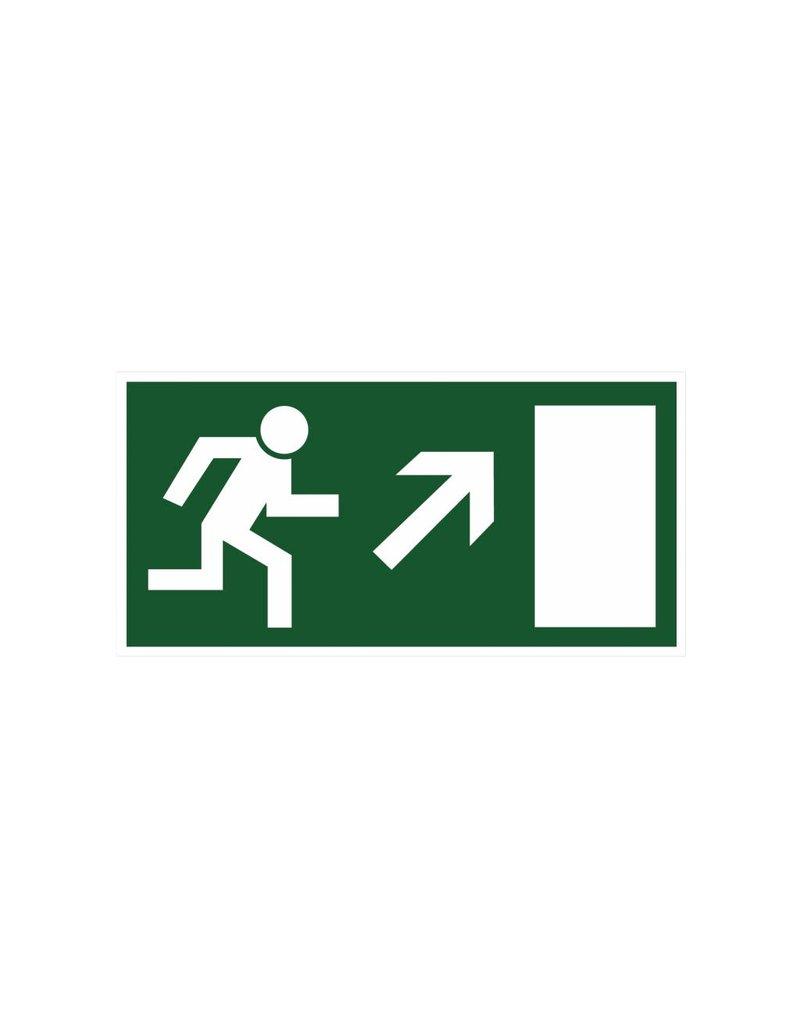 Escape route via stairs 7 sticker