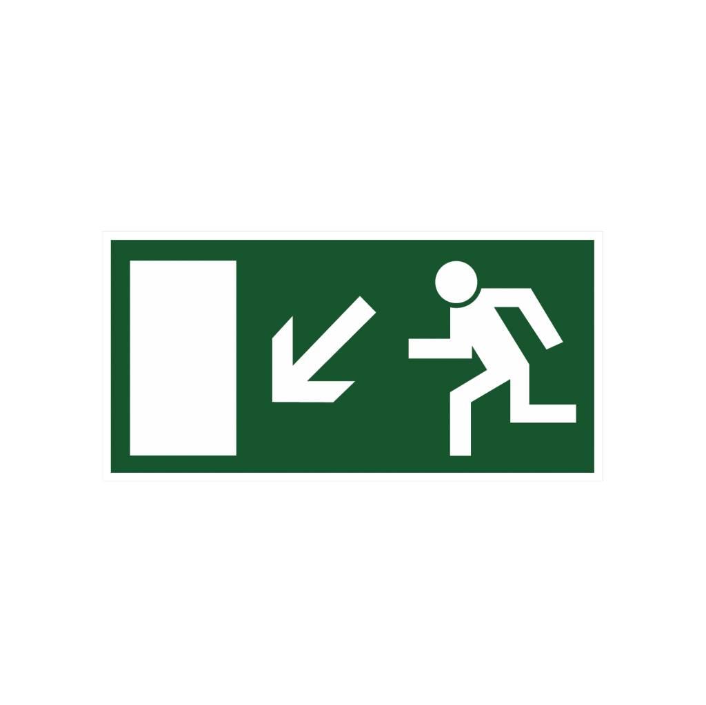 Sortie de secours avec escaliers 5 autocollant