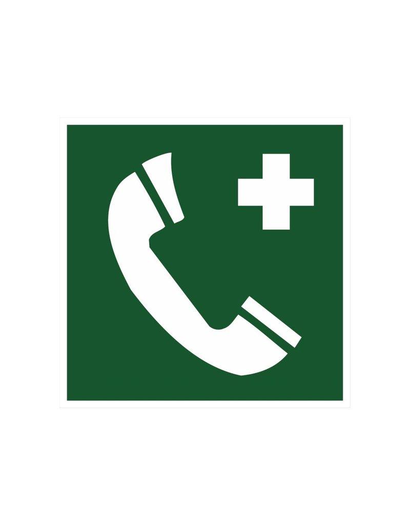 Telefoon voor redding en eerste hulp sticker