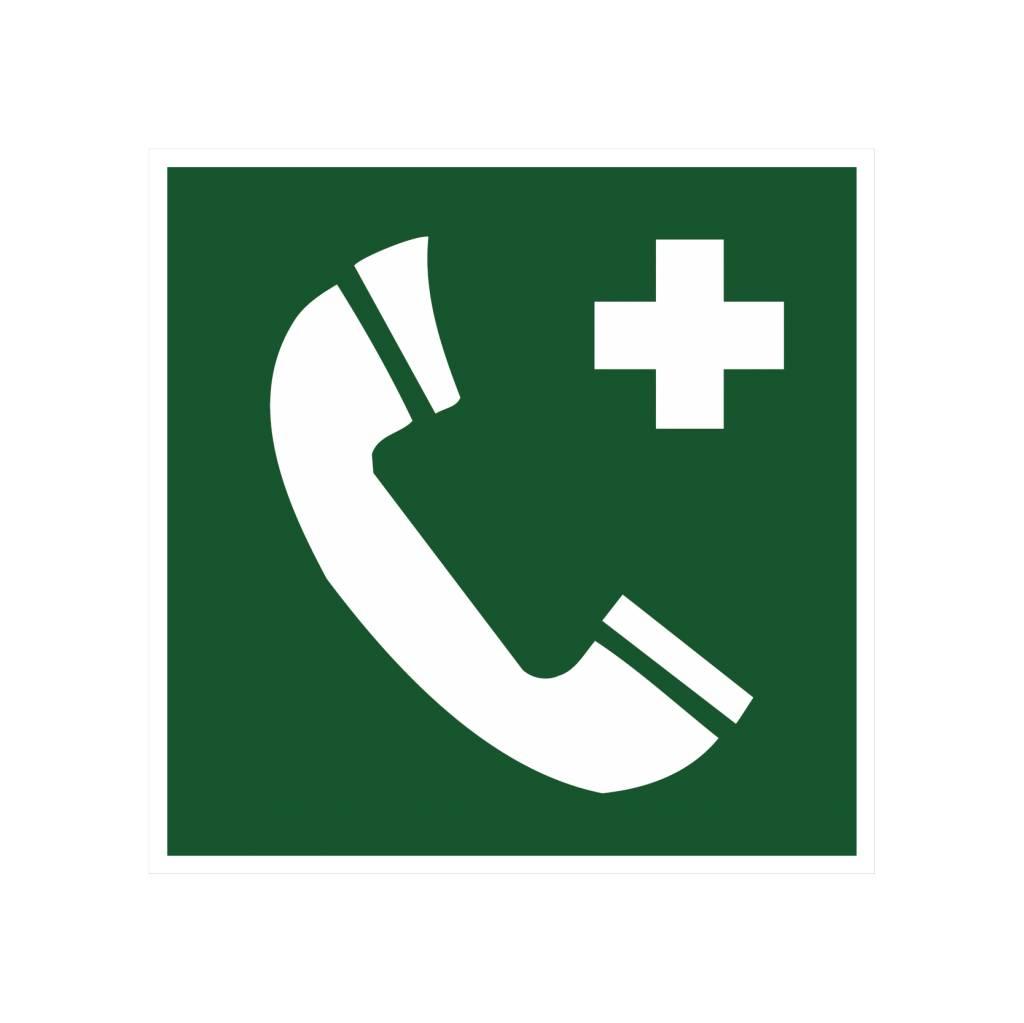 Telefon für Rettung und Erste Hilfe Aufkleber