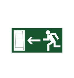 Vluchtweg via Noodladder links sticker