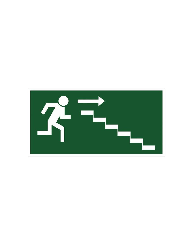 Escape route via stairs4 sticker