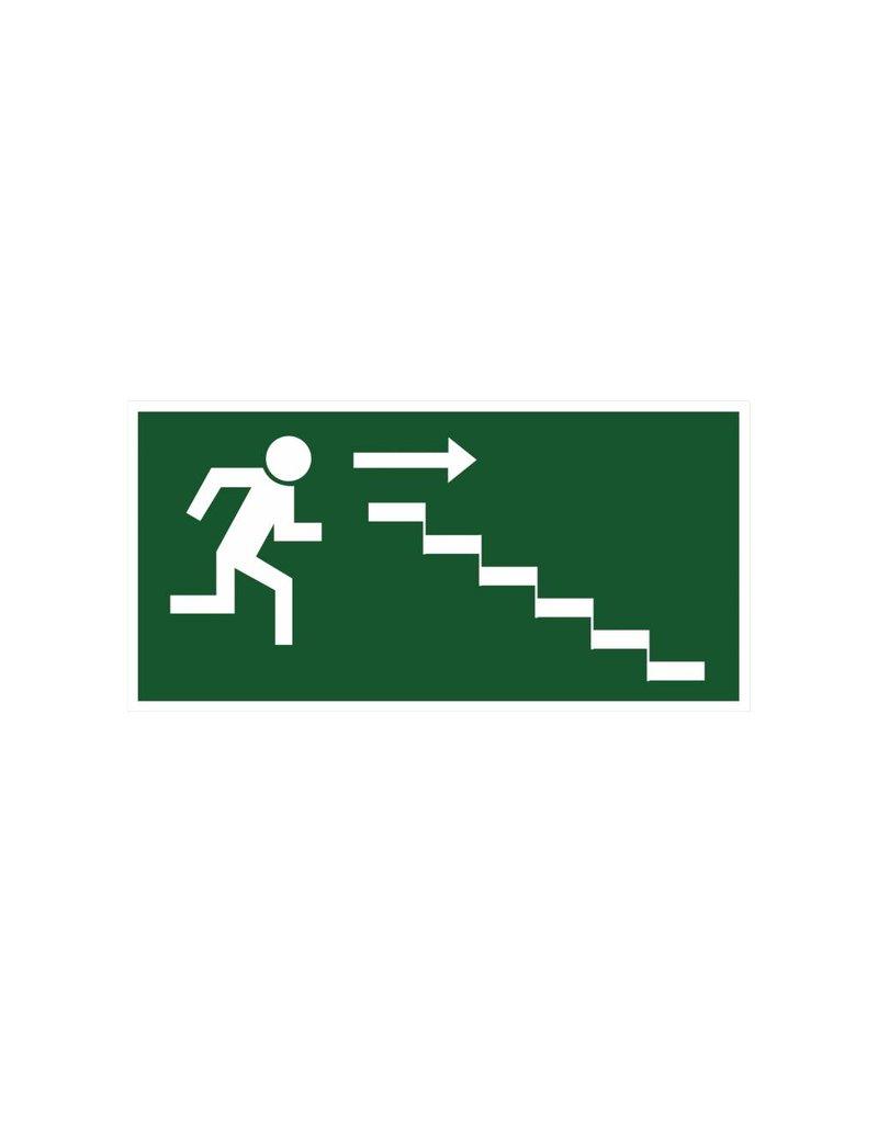 Sortie de secours avec escaliers 4 autocollant
