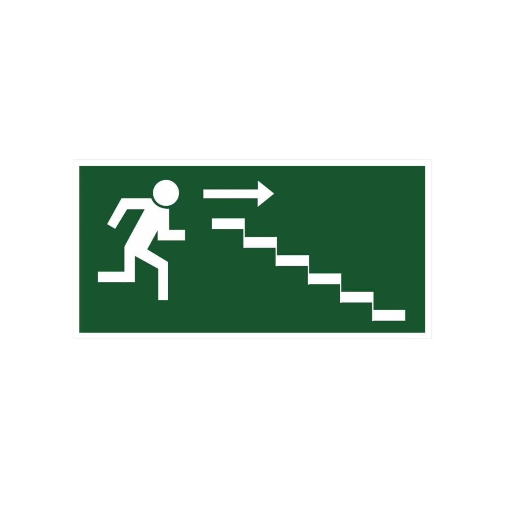 Escape route via stairs4 sticker