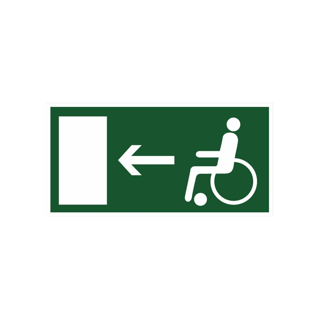 Fluchtweg Behinderte links Aufkleber