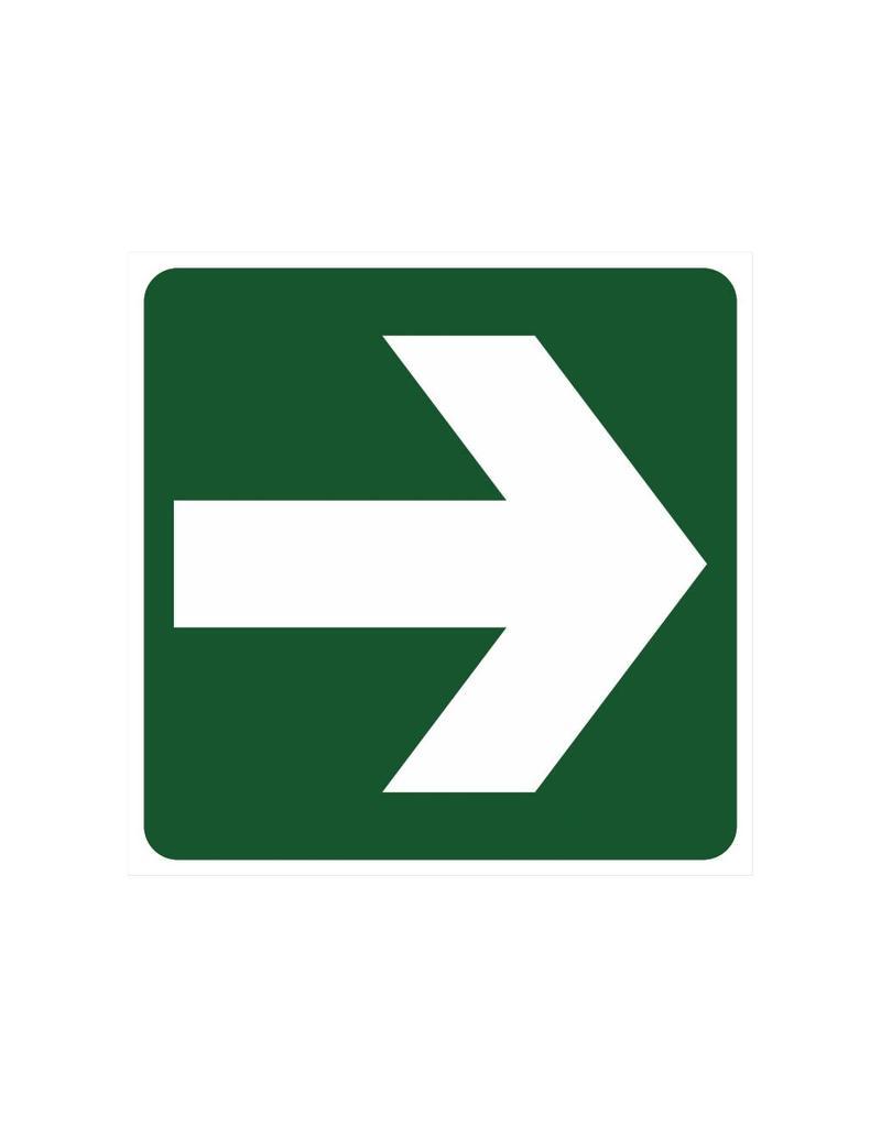 Te volgen richting sticker