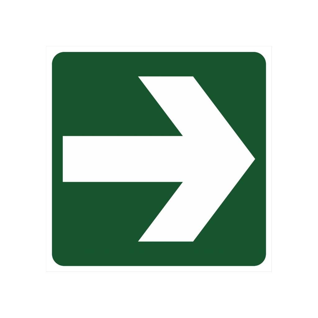 Direction à suivre autocollant