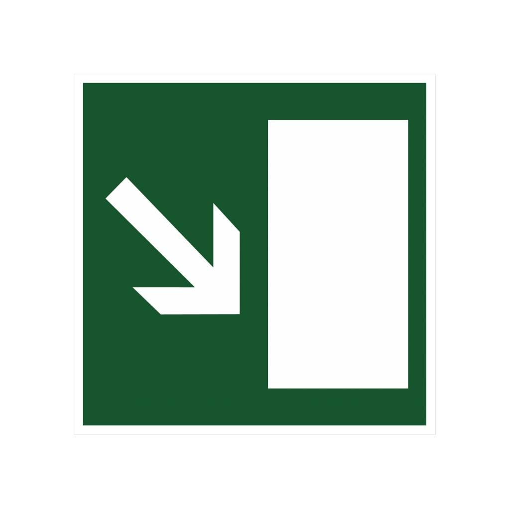 Escape route via stairs sticker