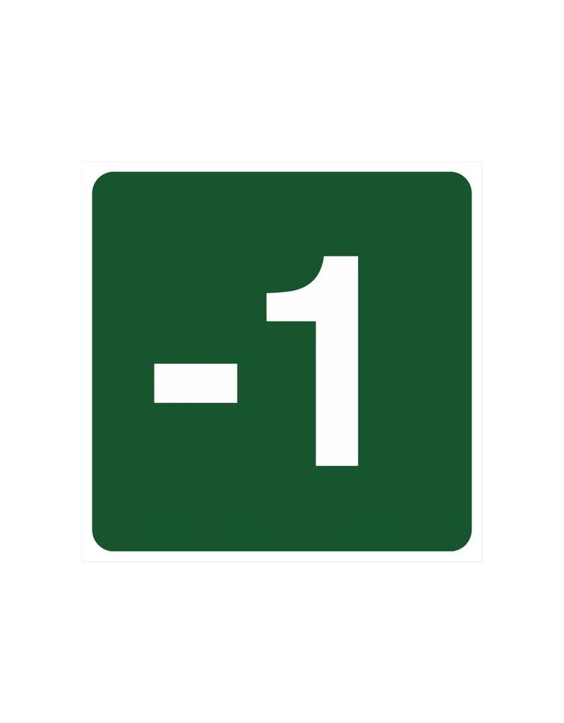 Escalón -1 pegatina