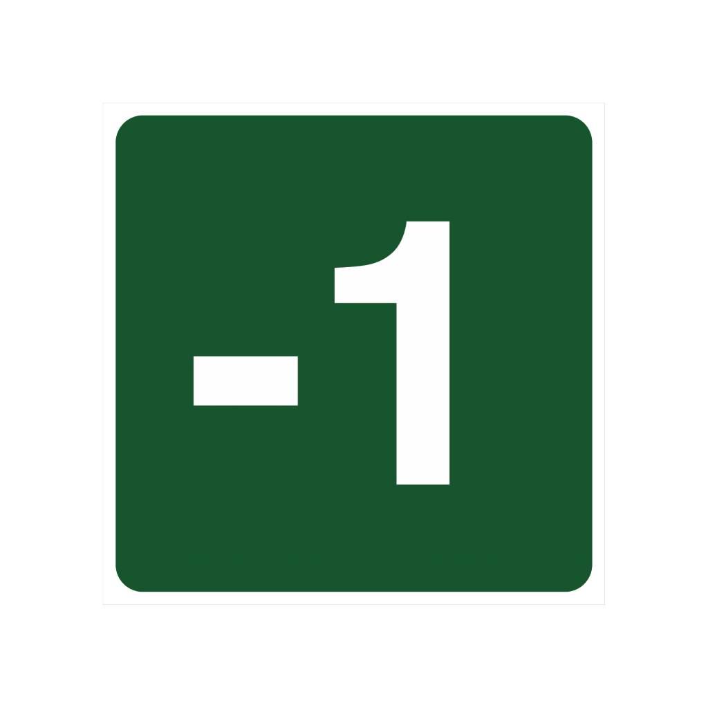 Untergeschoss -1 Aufkleber