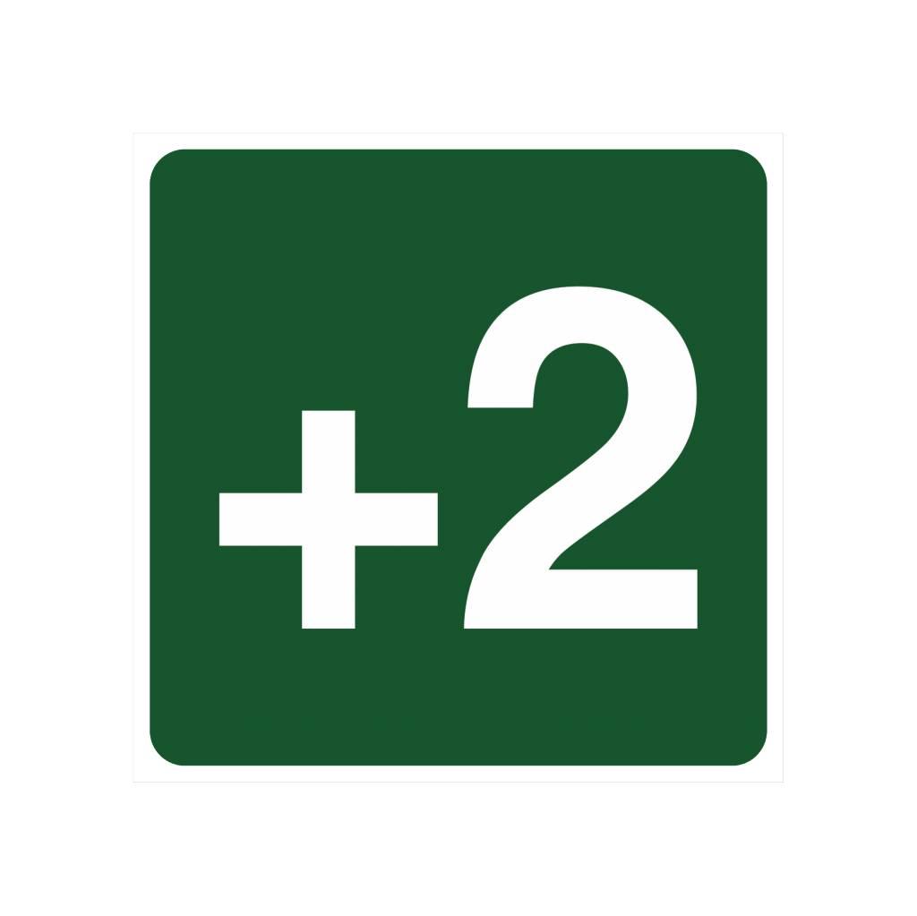 Étage +2 autocollant