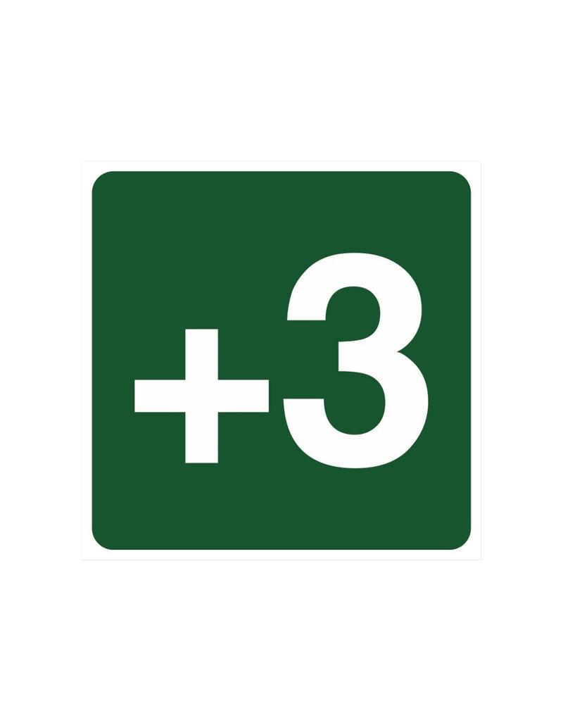 Étage +3 autocollant
