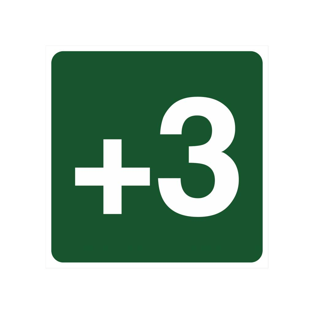 Niveau +3 sticker