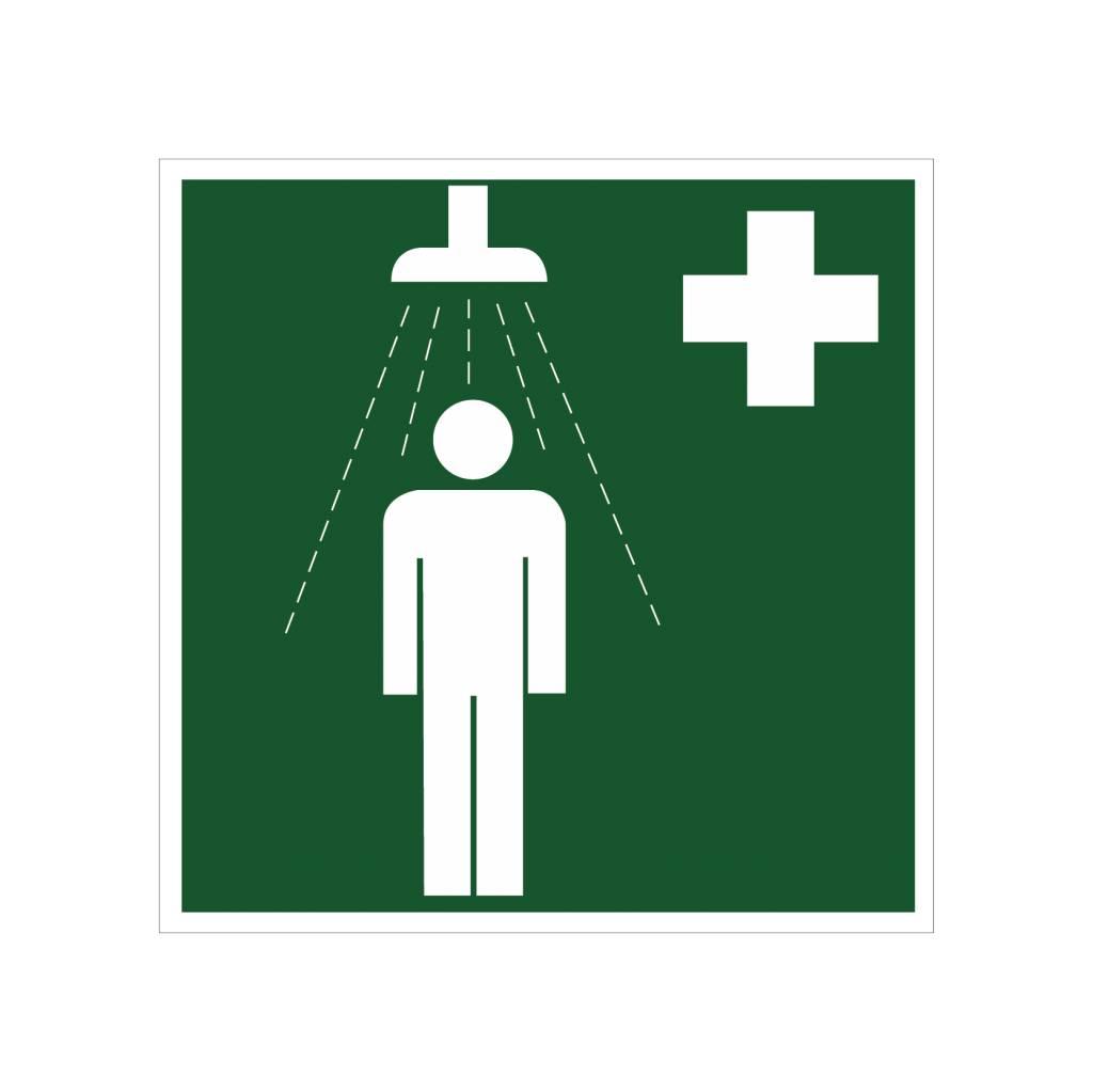 Autocollant de douche de sécurité