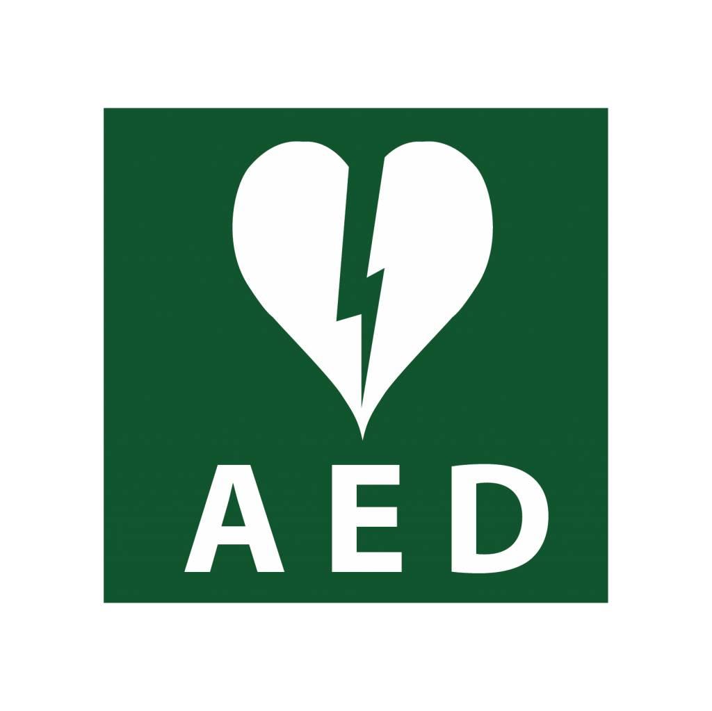 AED1 pegatina