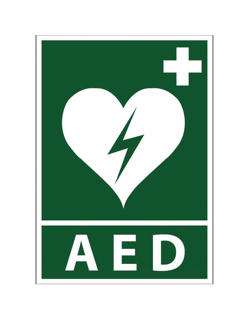 AED pegatina