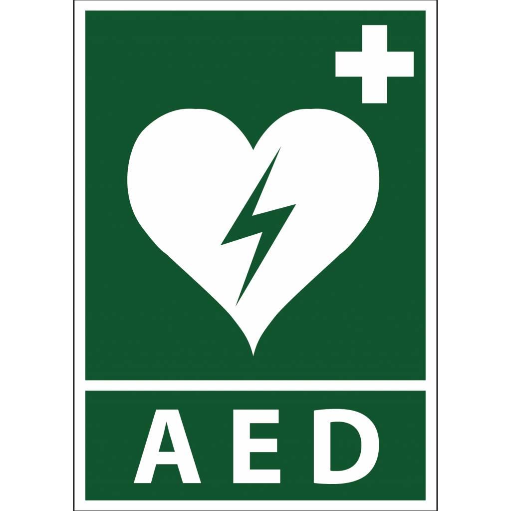 Autocollant AED