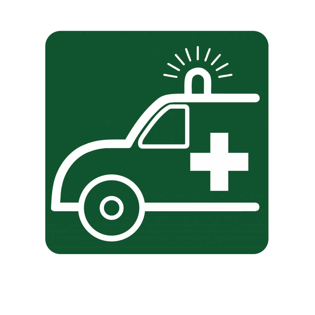 Rettungswagen Aufkleber