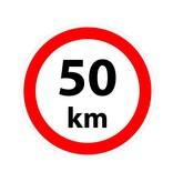Pegatina Max. 50 km