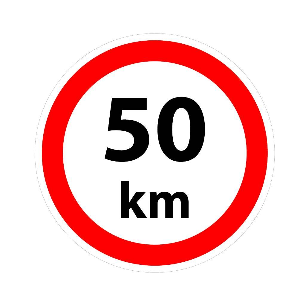 Max. 50 km autocollant