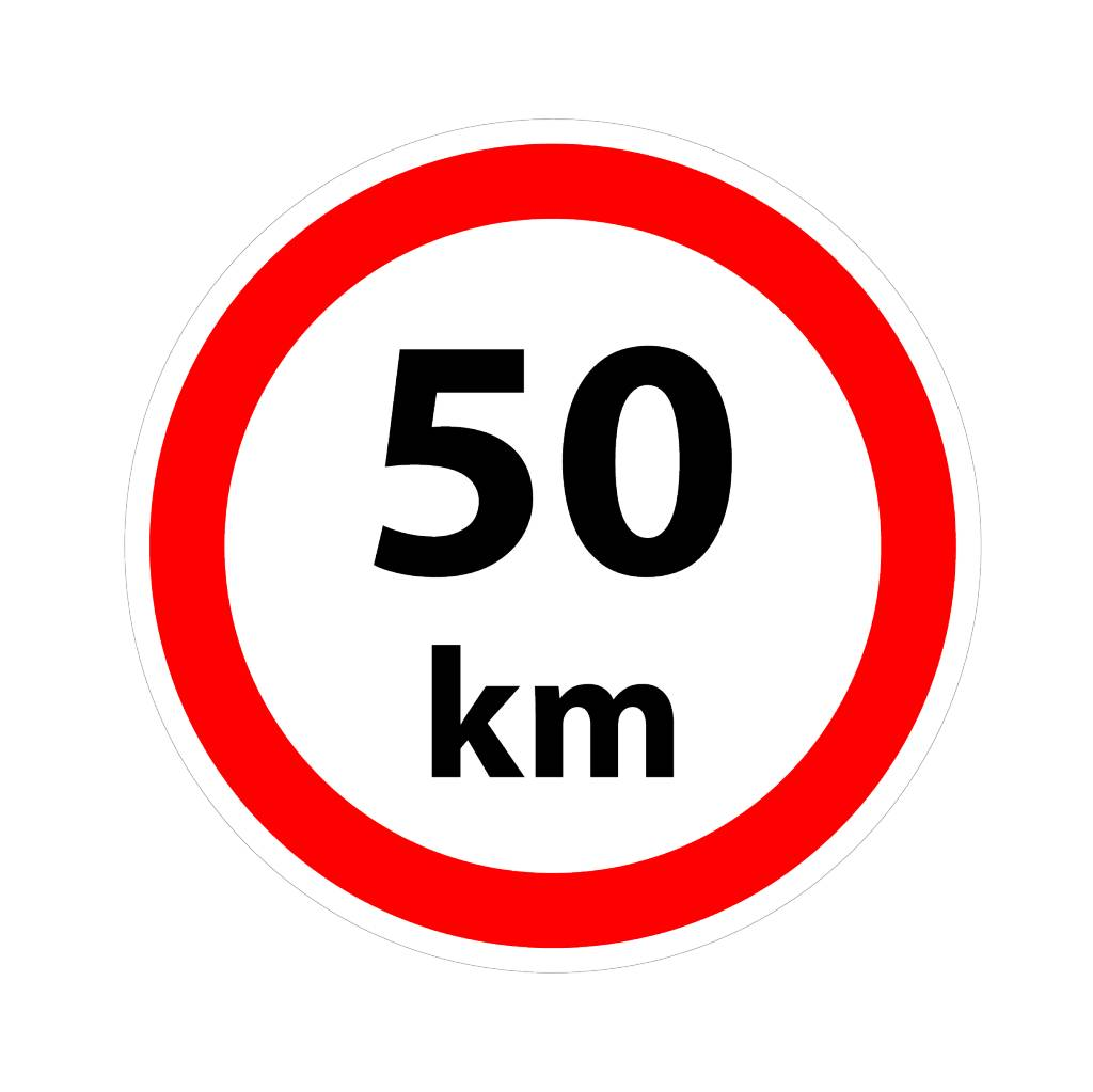 Max. 50 km sticker