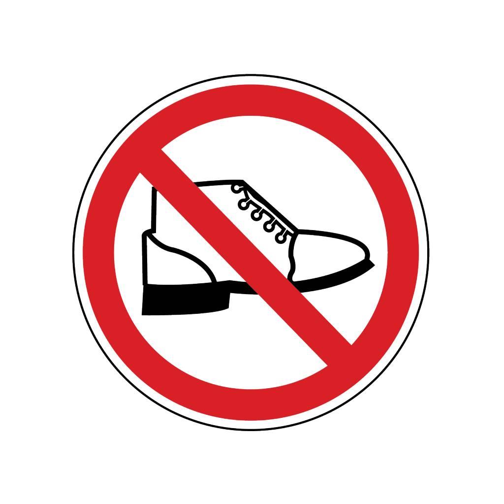 Ne pas marcher sur autocollant