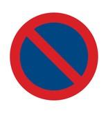Pas de parking autocollant