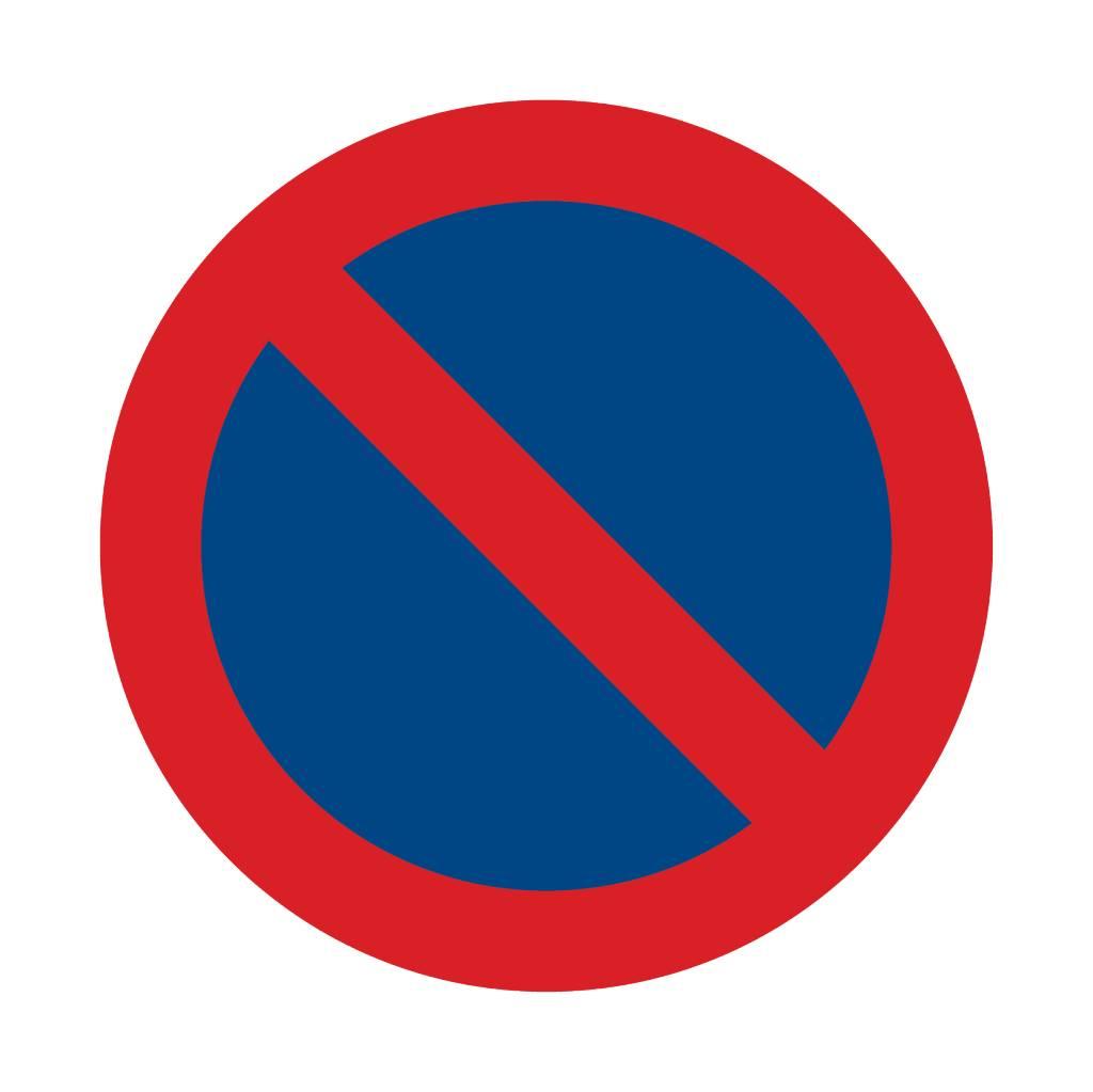 Forbidden to park sticker