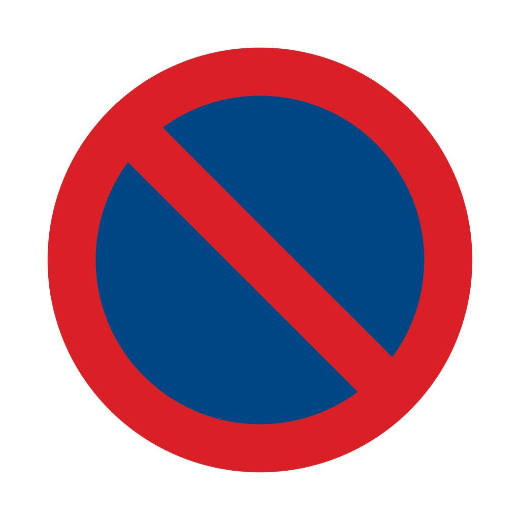 Verbotssticker Parkverbot 2