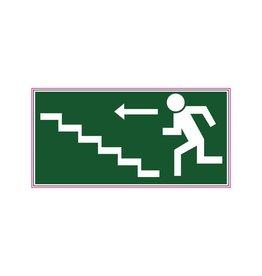 Vluchtweg via trap sticker