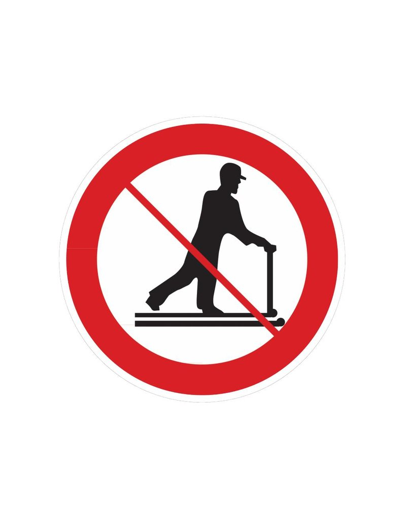 Rijden met transpallet verboden sticker
