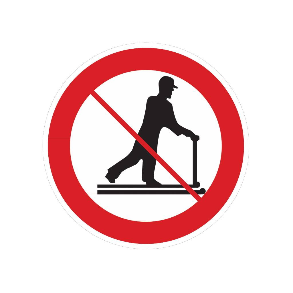 Driving pallet prohibited sticker