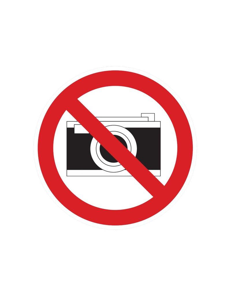 Fotograferen verboden sticker