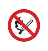 Fumar y las llamas abiertas prohibido pegatina