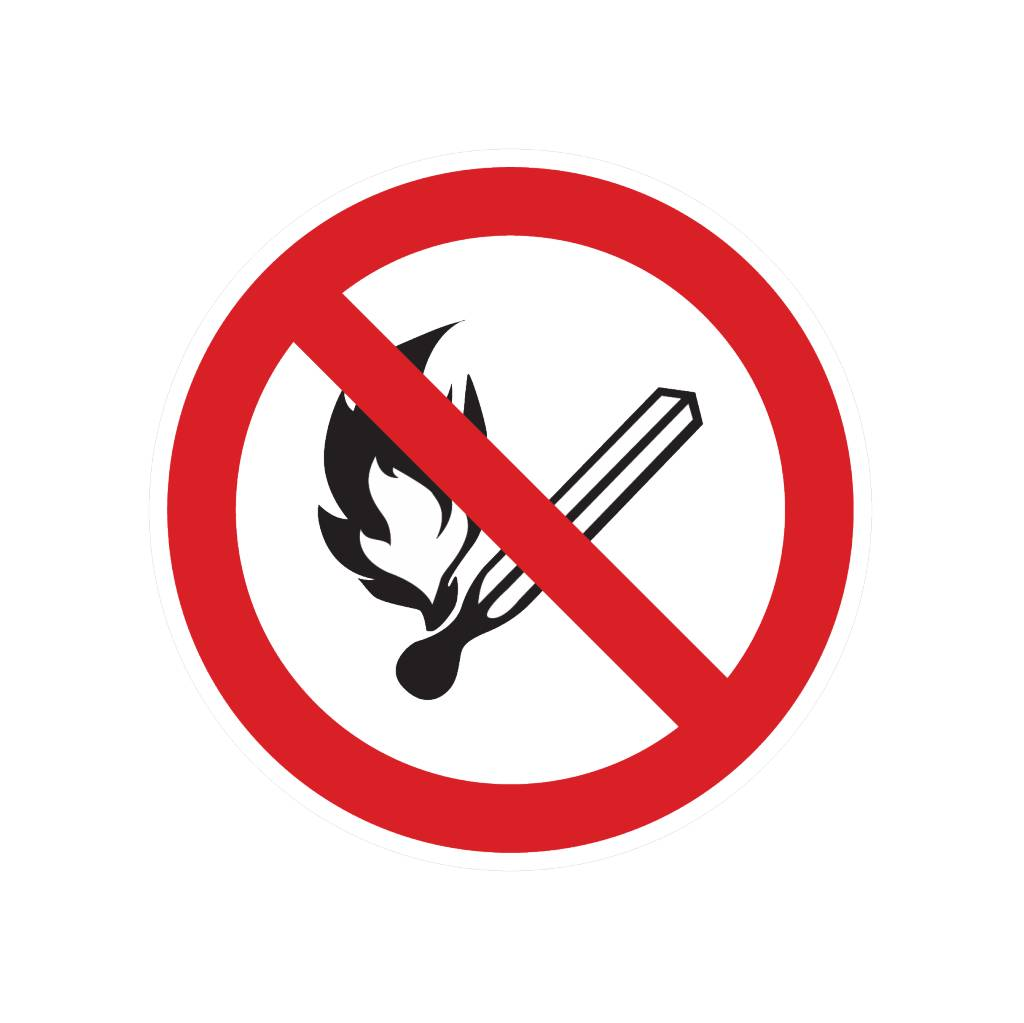Fumeurs et des flammes nues sont interdites autocollant