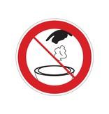 Prohibición de depositar algo en el inodoro pegatina