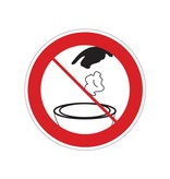 Verbotssticker Abfall Toilette